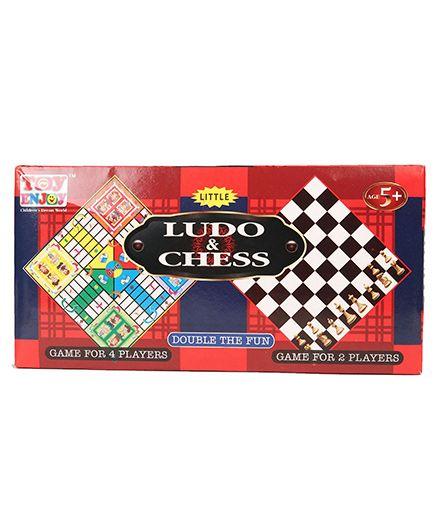 Toyenjoy 2 In 1 Ludo & Chess Board Games - Multi Colour