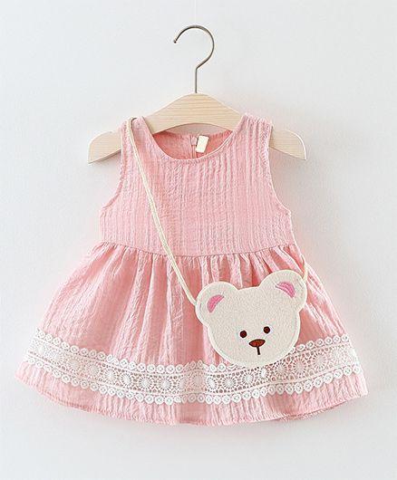 Awabox Lace Dress - Pink