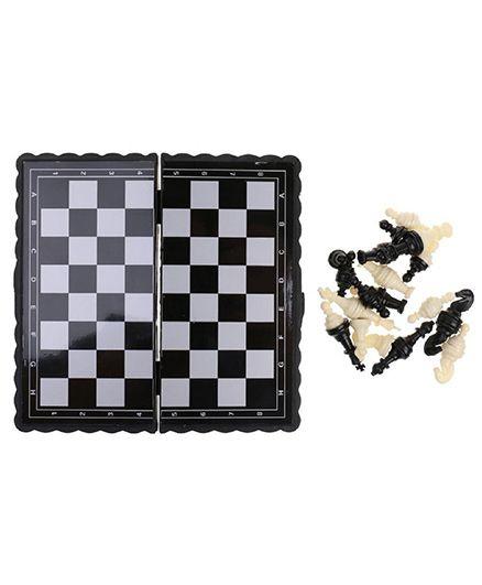 Emob Mini Travel Magnetic Chess Board - Black & White