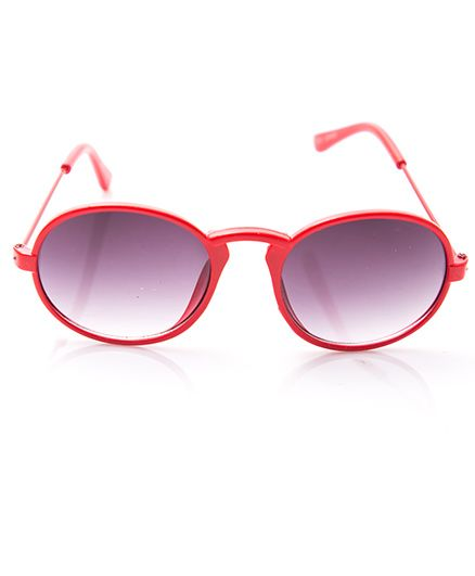 Kidofash Oval Shaped Sunglasses With Hard Case - Red