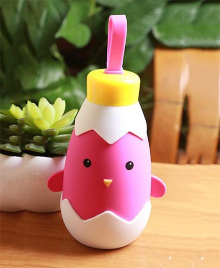 Kidofash Duck Theme Stainless Steel Bottle 270 ML - Pink