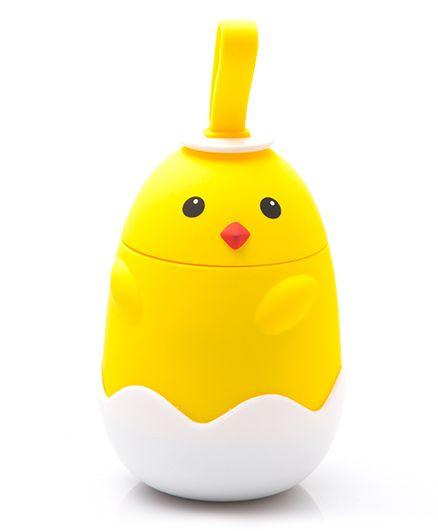 Kidofash Duck Eye Dot Stainless Steel Bottle 220 ML - Yellow
