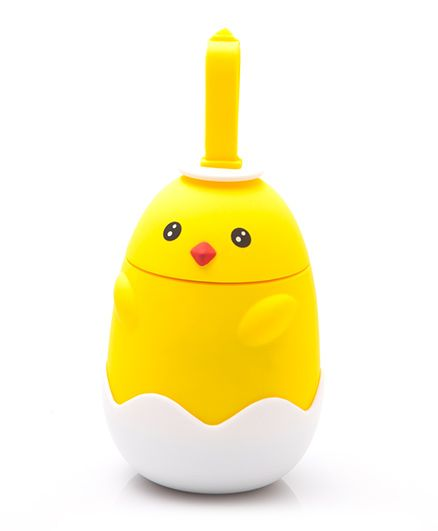 Kidofash Duck 2 Eye Dot Stainless Steel Bottle 220 ML - Yellow