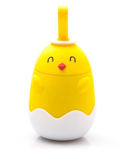 Kidofash Duck Closed Eyes Stainless Steel Bottle 220 ML - Yellow
