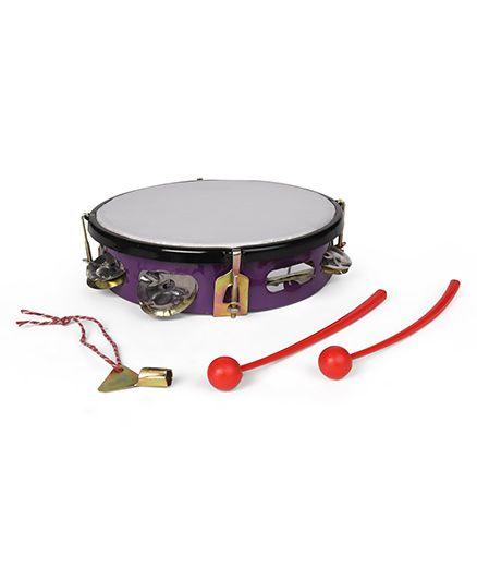 Ratnas Junior Musical Dafli With Two Sticks - Purple Orange