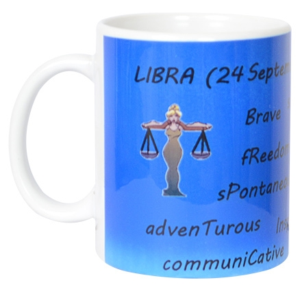 meSleep Intelligent Libra Zodiac Sign Mug