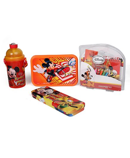 Disney School Kit Mickey Mouse Print Red - Pack Of 4