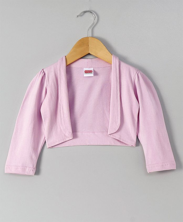 Babyhug Full Sleeves Knit Shrug - Light Pink
