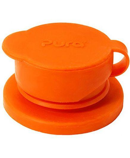 Pura Sport Big Mouth Silicone Sport Bottle Top - Orange