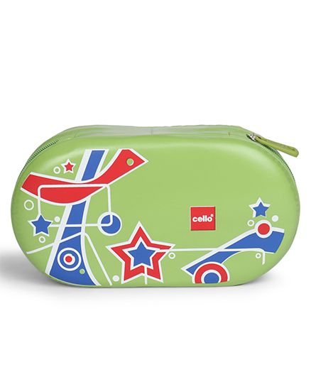 Cello Homeware Tit Bit Lunch Box With Bag - Green Red