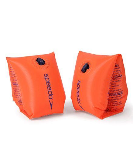 Speedo Sea Squad Inflatable Swimming Armbands - Orange