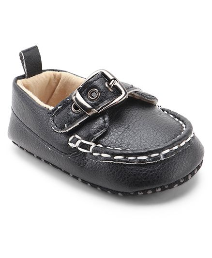 77c81681ae8e Cute Walk By Babyhug Loafers Style Booties - Black