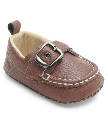 Cute Walk By Babyhug Shoes Style Booties - Brown