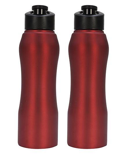 Pexpo Bistro Sipper Bottle Pack of 2 Matt Red - 750 ml