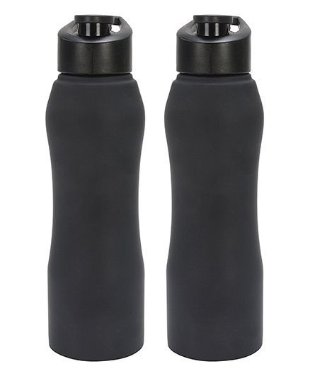 Pexpo Bistro Sipper Bottle Pack of 2 Matt Black - 750 ml