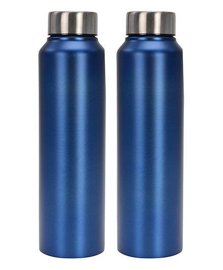 Pexpo Chromo Water Bottle Pack of 2 Matt Blue - 1000 ml