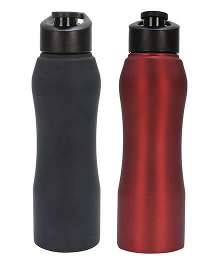 Pexpo Bistro Sipper Bottles Black Red Pack of 2 - 750 ml