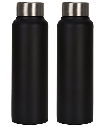 Pexpo Chromo Sleek Water Bottles Black Pack of 2 - 500 ml