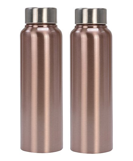 Pexpo Chromo Sleek Water Bottles Copper Pack of 2 - 500 ml