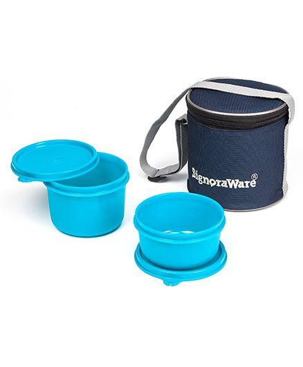 Signoraware Executive Small Lunch Box Set With Bag - Teal Blue