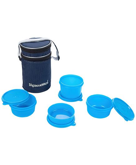 Signoraware 4 Piece Lunch Box Set - Blue (Color May Vary)