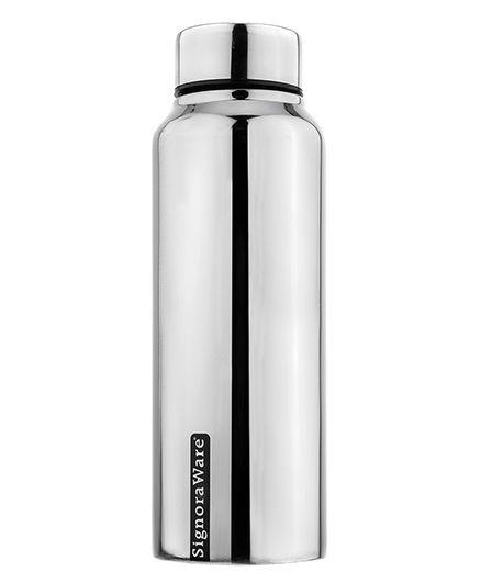 Signoraware Aqua Stainless Steel Water Bottle Silver - 750 ml