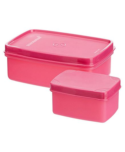Signoraware Compact Lunch Box Set 2 Pieces (Colors may Vary)