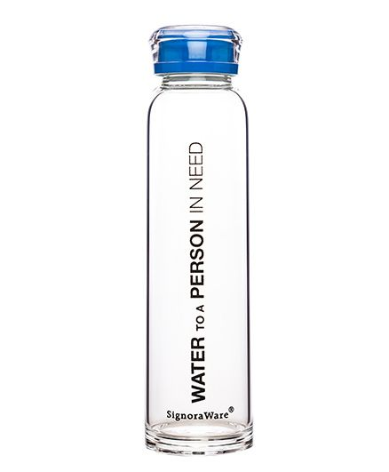 Signoraware Aqua Time Water Bottle - 390 ml(Colour May Vary)