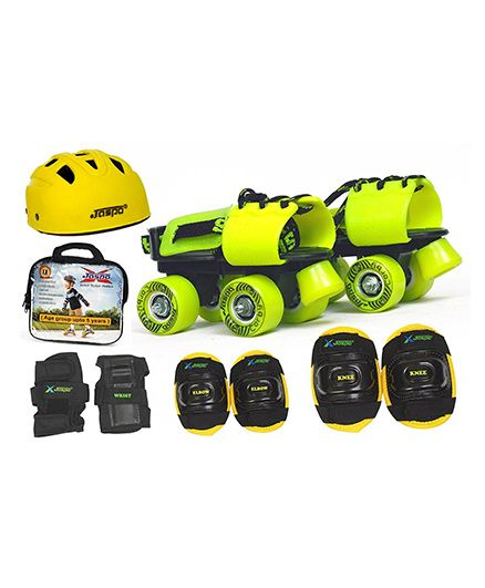 Jaspo Kids Delite Pro Junior Skates Combo - Yellow