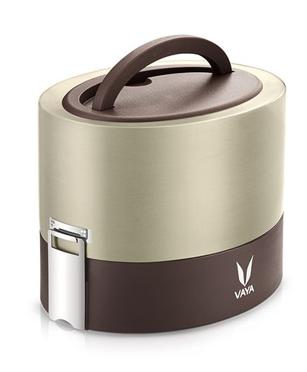 Vaya Tyffyn 600 ml Graphite Lunch Box without BagMat - Copper-finished Stainless Steel 2-Container Tiffin Box