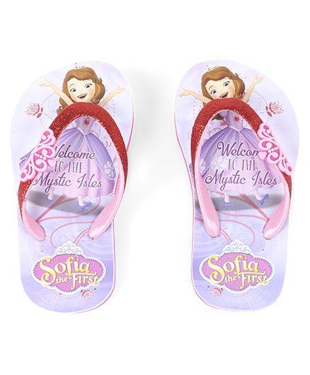 Disney Sofia The First Flip Flops - Purple