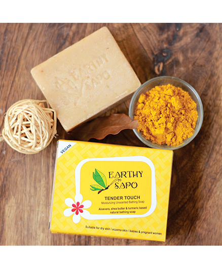 Earthy Sapo Tender Touch Moisturizing Unscented Bathing Soap - 100 gms