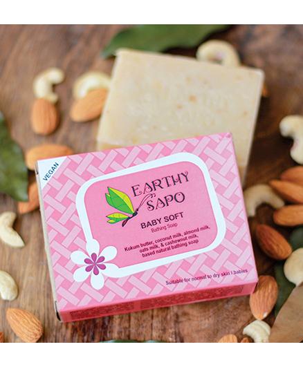 Earthy Sapo Baby Soft Bathing Soap - 100 gm