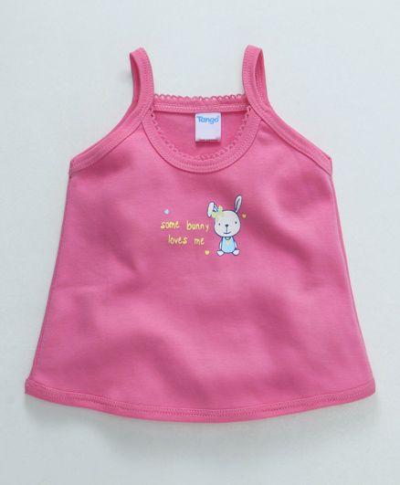 Tango Singlet Slip Bunny Print  - Pink