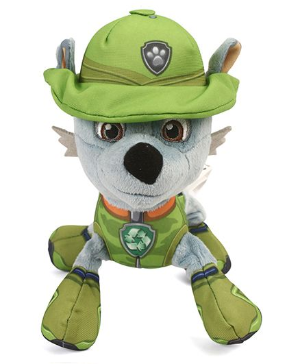 Paw Patrol Rocky Plush Toy Green - Length 16 cm