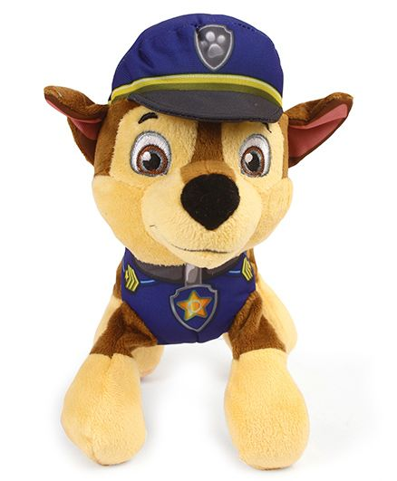Paw Patrol Chase Plush Toy Blue - Length 17 cm