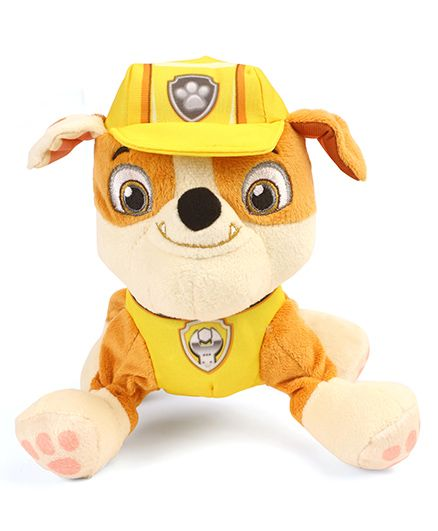 Paw Patrol Rubble Plush Toy Yellow - Length 16 cm