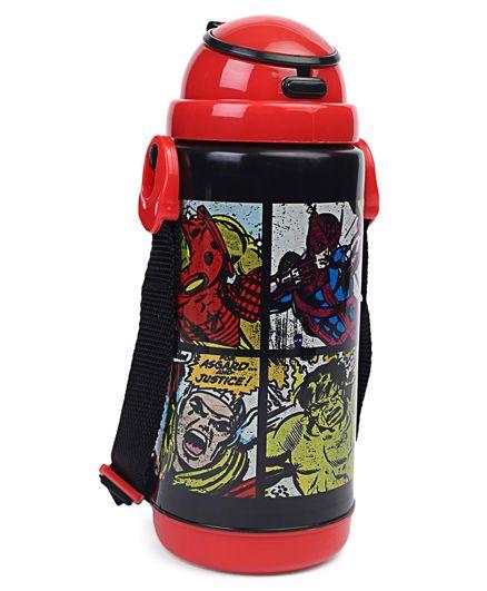 Marvel Insulated Sipper Bottle Red & Black - 450 ml