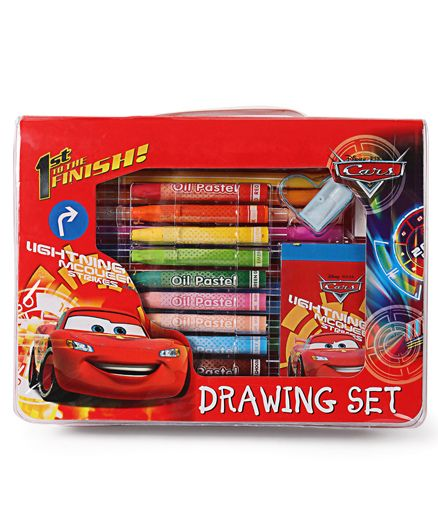 Disney Pixar Cars Drawing Stationery Set - Multicolour