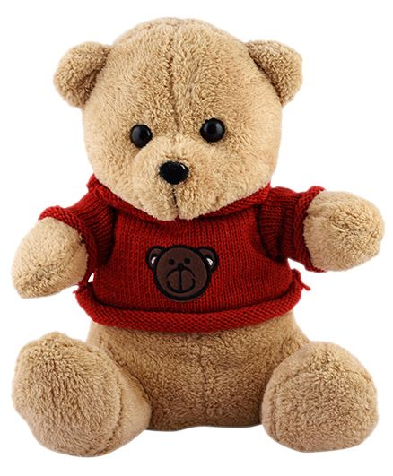 Curtis Teddy With Sweater Plush Toy Brown - Height 45 cm