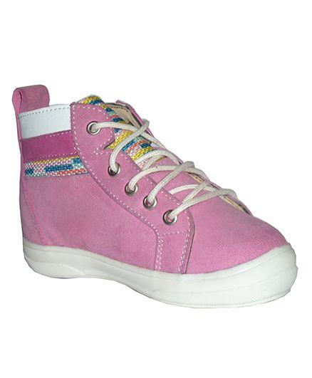 MOKS Ankle Length Girls Boots - Pink