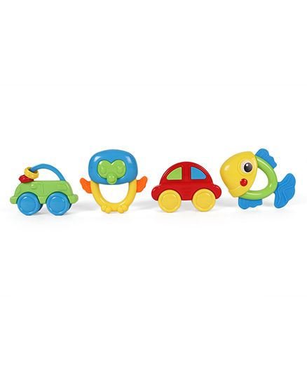 Dr.Toy Baby Rattle Set Pack of 4 - Red Blue