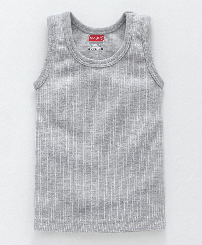Babyhug Sleeveless Thermal Vest - Light Grey