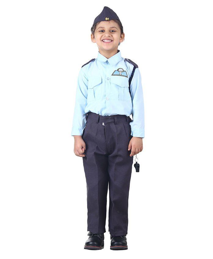 BookMyCostume Indian Air Force Defense Uniform Fancy Dress Costume - Blue