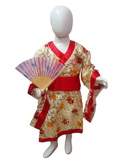 BookMyCostume Japanese Girl Costume - Cream