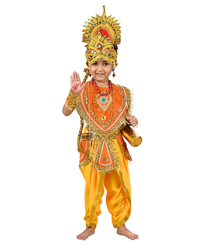 BookMyCostume Shri Ram Hindu God Fancy Dress Costume - Orange & Yellow
