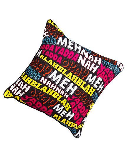 The Crazy Me Cushion Cover Text Print - Multicolour