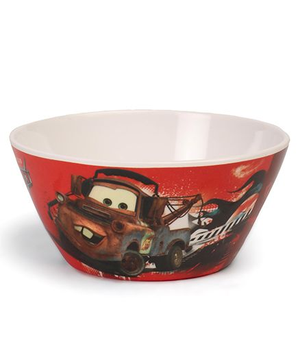 Disney Cone Bowl Pixar Car Print - White Red