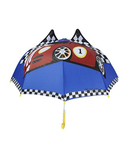 Superfie Racing Car Printed Umbrella - Blue