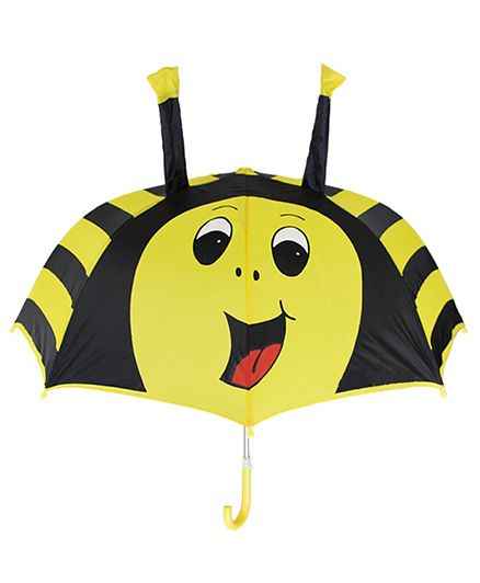 Superfie Emoji Printed Umbrella - Yellow